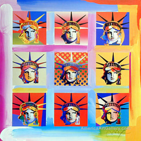 Romero Britto Statue of Liberty